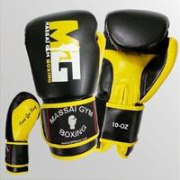 massai gant boxe noir jaune